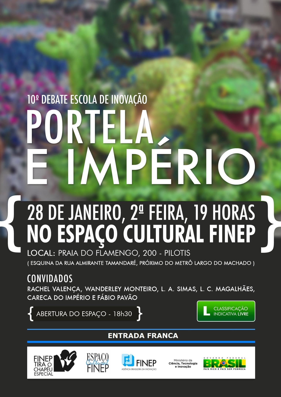 Portela e Império: debate na Finep