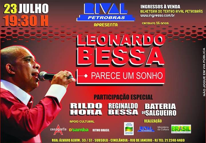 Leonardo Bessa lança CD com show no Teatro Rival