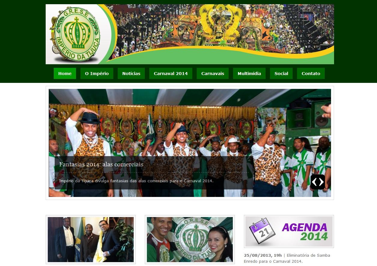 Império da Tijuca lança novo site