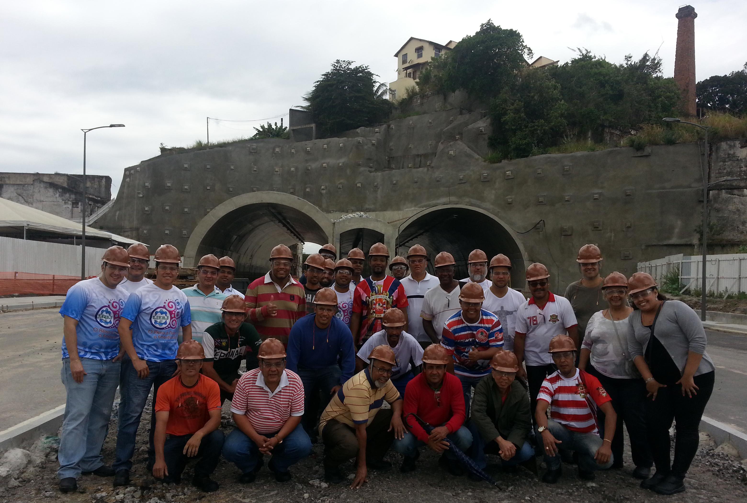 Diretoria da Lierj visita obras no Porto