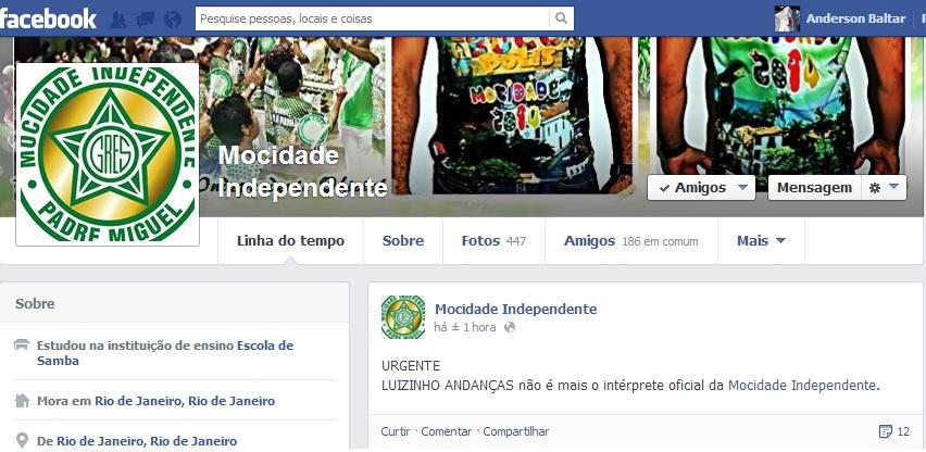 Mocidade demite Luizinho Andanças