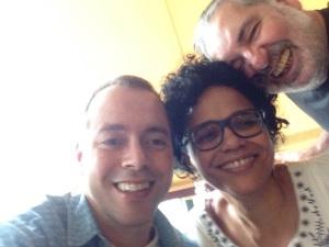 Cláudio Russo, Tereza Cristina e Moacyr Luz