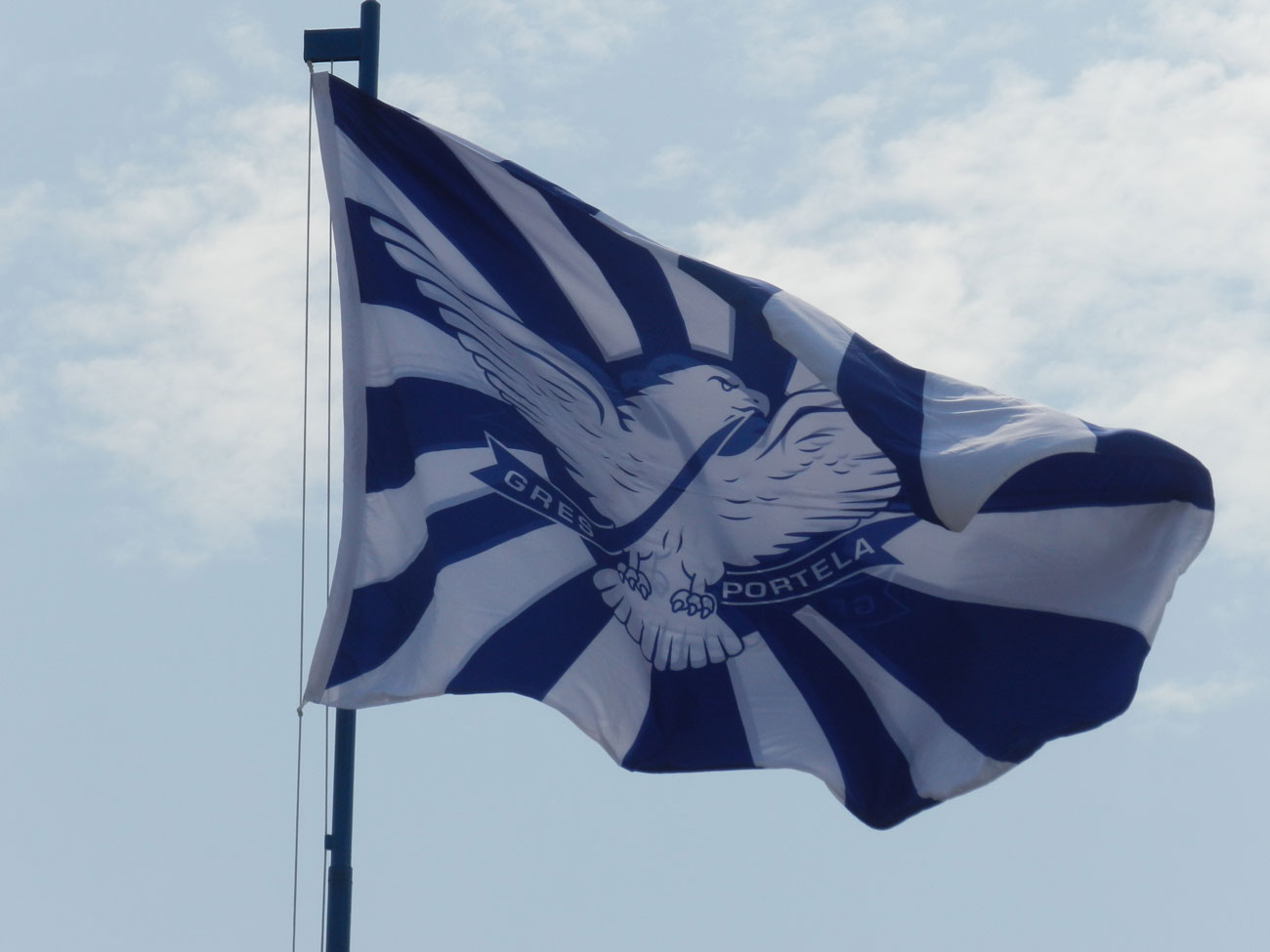 Portela hasteia bandeira na quadra