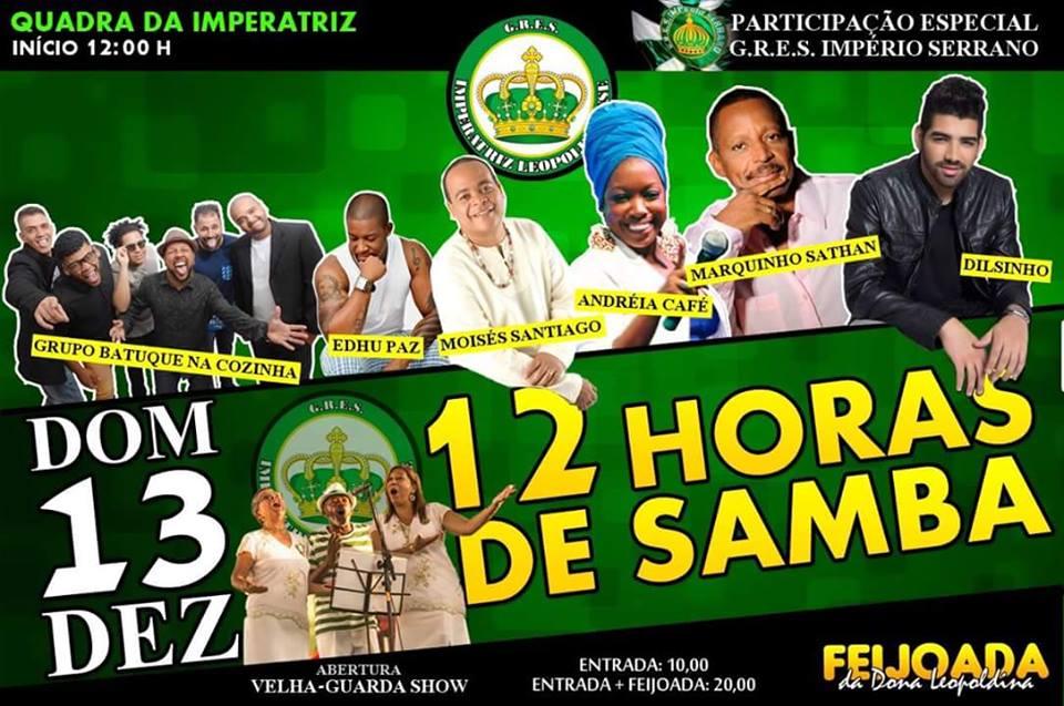Imperatriz faz 12 horas de samba no domingo