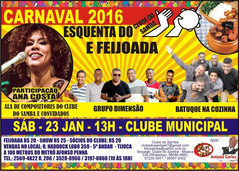 Bloco Clube do Samba faz esquenta para o Carnaval