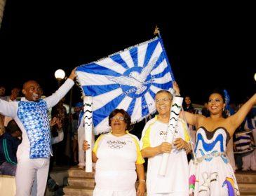 Portelenses participam do revezamento da tocha olímpica