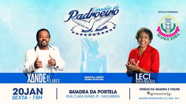 Portela terá feijoada e shows de Xande de Pilares e Leci Brandão no feriado