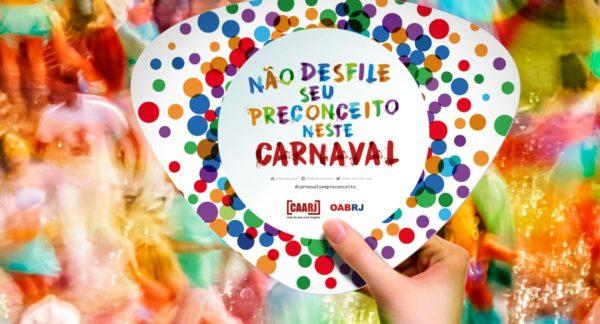 CAARJ lança campanha para combater racismo e assédio durante o Carnaval