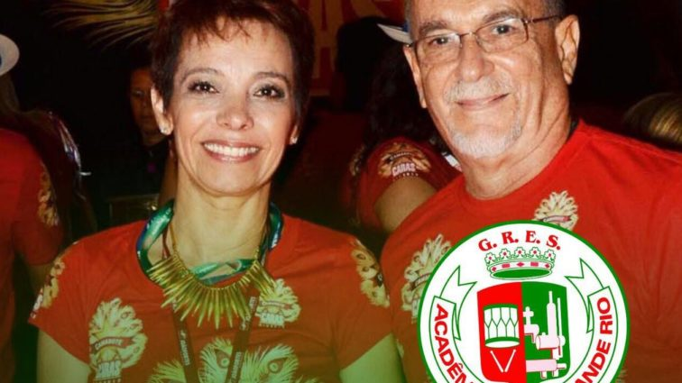 Renato e Márcia Lage na Grande Rio