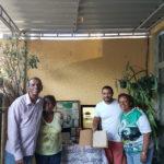A família de Silas com o jornalista Eduardo Carvalho