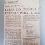 Reportagem sobre samba de Silas