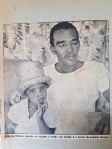 Silas com o filho Silas quando criança