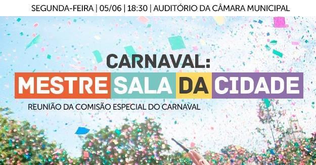 Comissão do Carnaval na Câmara Municipal tem sua primeira reunião nesta 2a