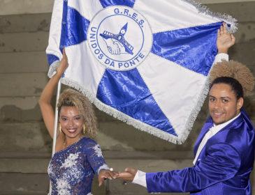 Unidos da Ponte apresenta novo 2º Casal de Mestre Sala e Porta Bandeira