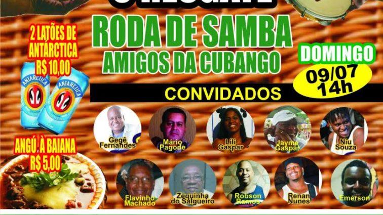 Cubango apresentará equipe durante roda de samba