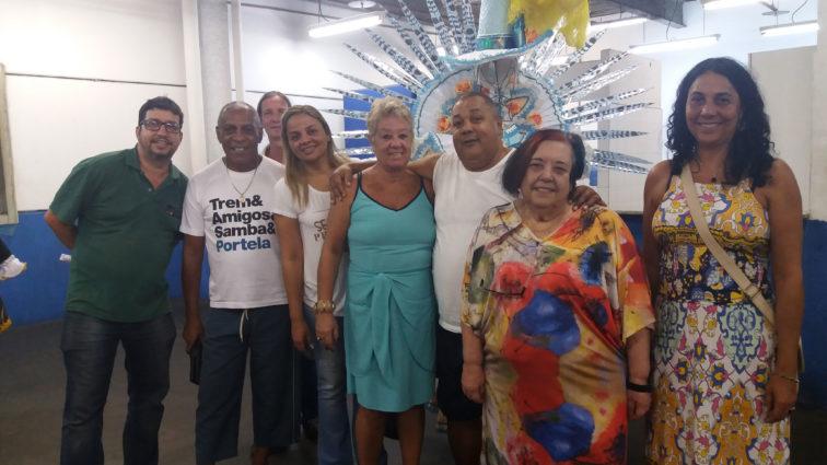 Presidentes de alas comerciais da Portela conhecem protótipos